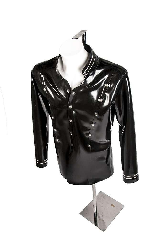 Latex rubber heren jasje